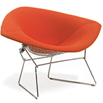 bertoia large diamond chair with full cover  -
