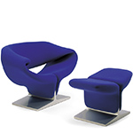 pierre paulin ribbon chair & ottoman  -