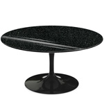 saarinen coffee table black granite  -