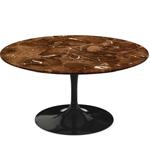 saarinen coffee table espresso marble  -