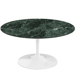 saarinen coffee table verdi alpi green marble  -