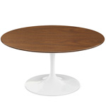 saarinen coffee table wood veneer  -