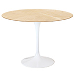 saarinen dining table empire beige marble  -