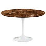 saarinen dining table espresso marble  -