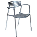 toledo stacking chair with seat cushion  -