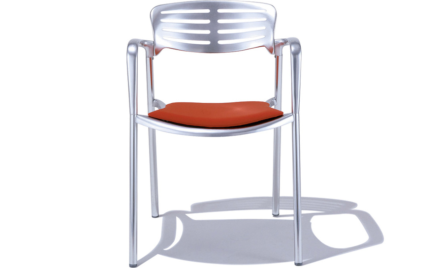 toledo stacking chair with seat cushion