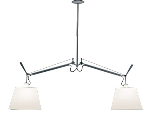 tolomeo double shade suspension lamp