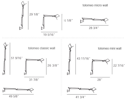 Tolomeo Led Wall Lamp Hivemodern Com
