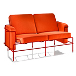 traffic two seat sofa