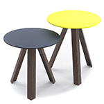 tre side table with lacquer top  - arco
