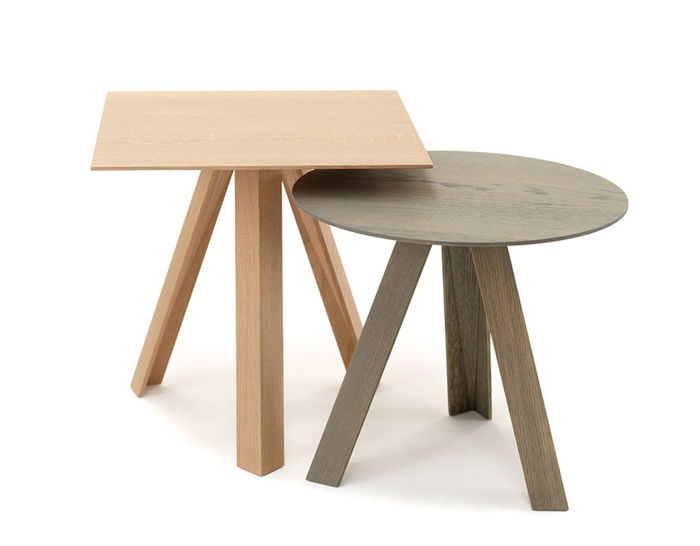 tre side table with wood top
