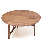 trio round coffee table with wood top 754m  -