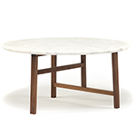 trio round coffee table with marble top 754mm  -