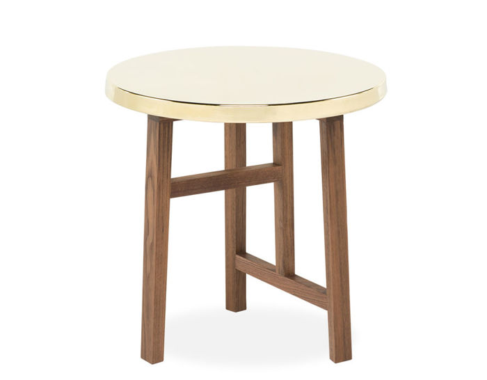 trio side table with brass top 754sb