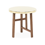 trio side table with brass top 754sb  -