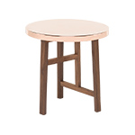 trio side table with copper top 754sp  -