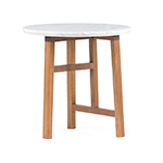 trio side table with marble top 754sm  -