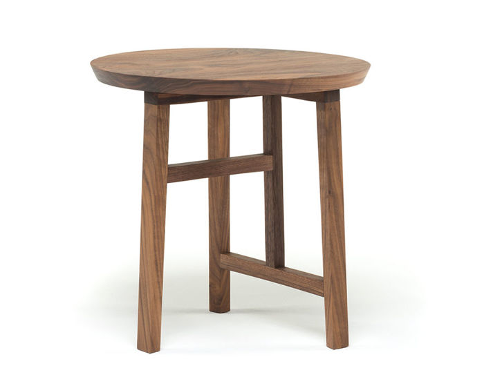 trio side table with wood top 754s