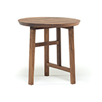 trio side table with wood top 754s  -