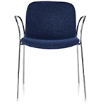 magis troy upholstered stacking armchair two pack  -