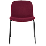 troy upholstered stacking chair two pack
