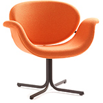 pierre paulin tulip midi chair with cross base  -