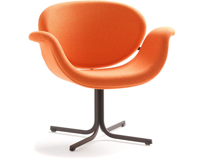 pierre paulin tulip midi chair with cross base