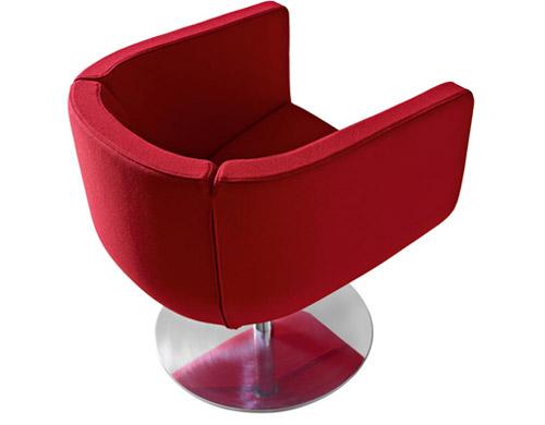 Tulip Sixtysix Swivel Lounge Chair Hivemodern Com