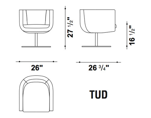 tulip sixtysix swivel lounge chair