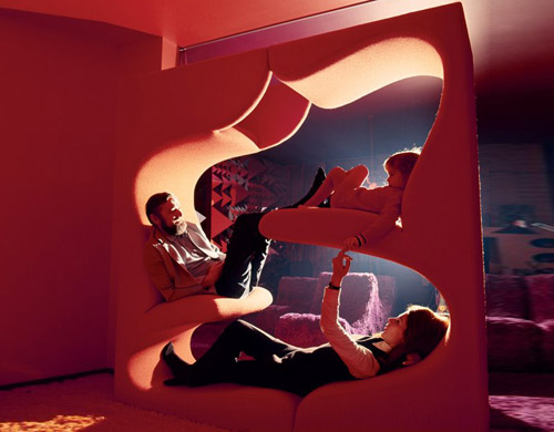 verner panton living tower. Black Bedroom Furniture Sets. Home Design Ideas