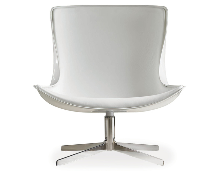 vika lounge chair with white fiberglass back