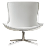 vika lounge chair with white fiberglass back  -