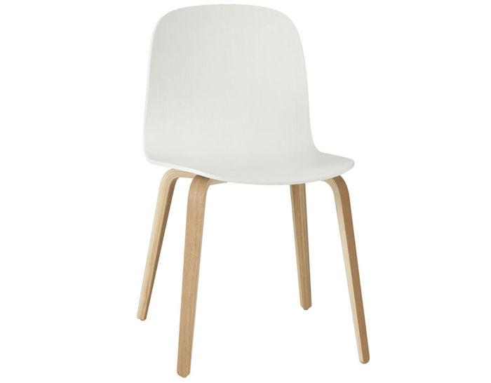visu chair with wood base 2 pack