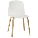 visu chair with wood base  -