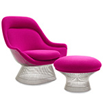 platner polished nickel easy chair - Warren Platner - Knoll