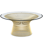 platner gold plated coffee table 42.25