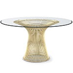 platner gold plated dining table  -