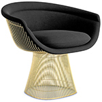 platner gold plated lounge chair  -