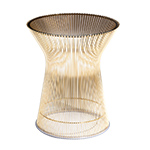 platner gold plated side table