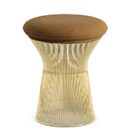 platner gold plated stool