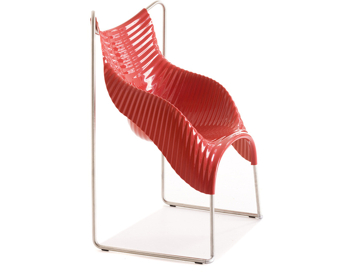 wavy stacking chair