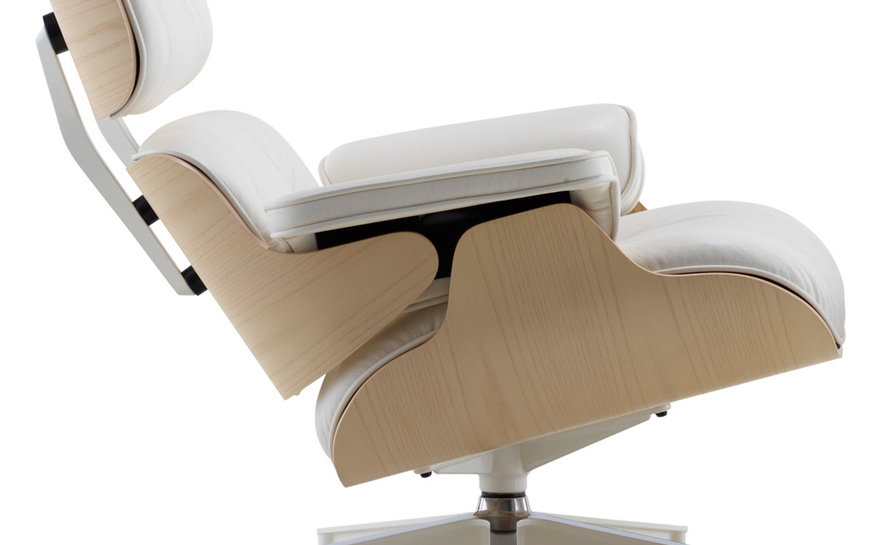 White Ash Eames Lounge Chair hivemodern