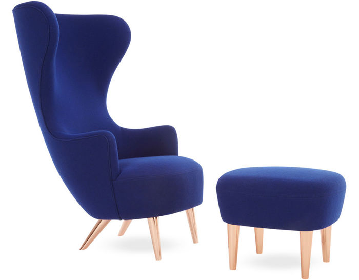 wingback lounge chair & ottoman