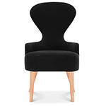 wingback dining chair with metal legs  -