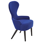 wingback dining chair with wood legs - Tom Dixon - tom dixon