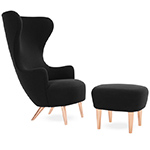 wingback lounge chair & ottoman - Tom Dixon - tom dixon