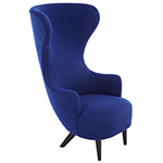 wingback lounge chair  -