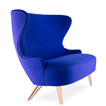 wingback micro sofa with copper legs - Tom Dixon - tom dixon