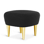wingback ottoman with metal legs  -