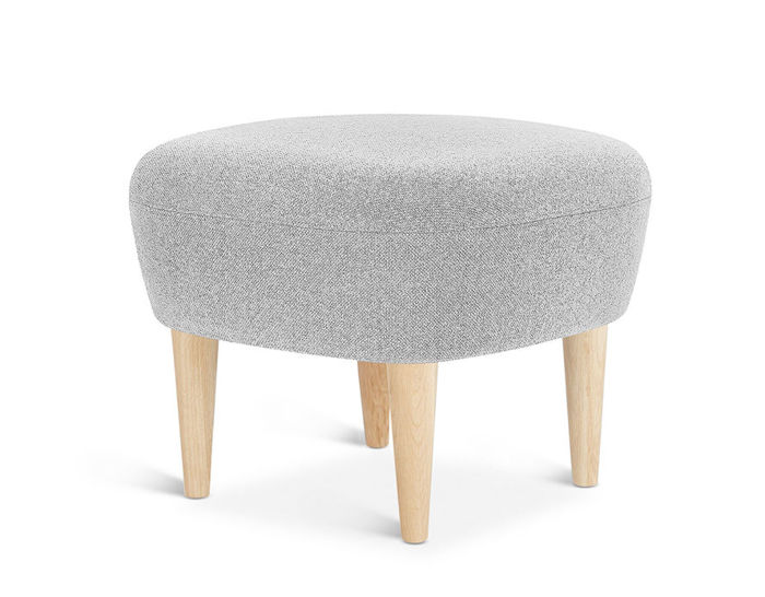 wingback ottoman with wood legs